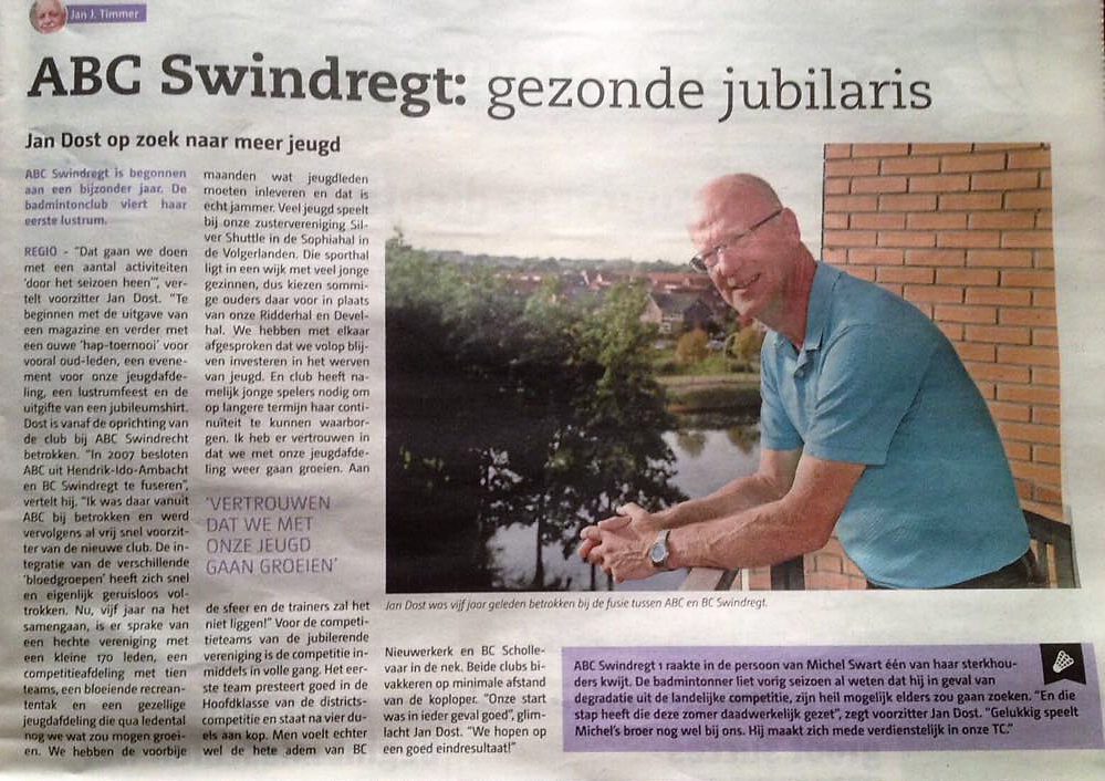 ABC-Swindregt: gezonde jubilaris